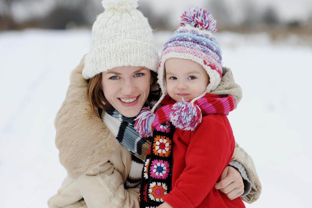 Картинки родители идети зимой