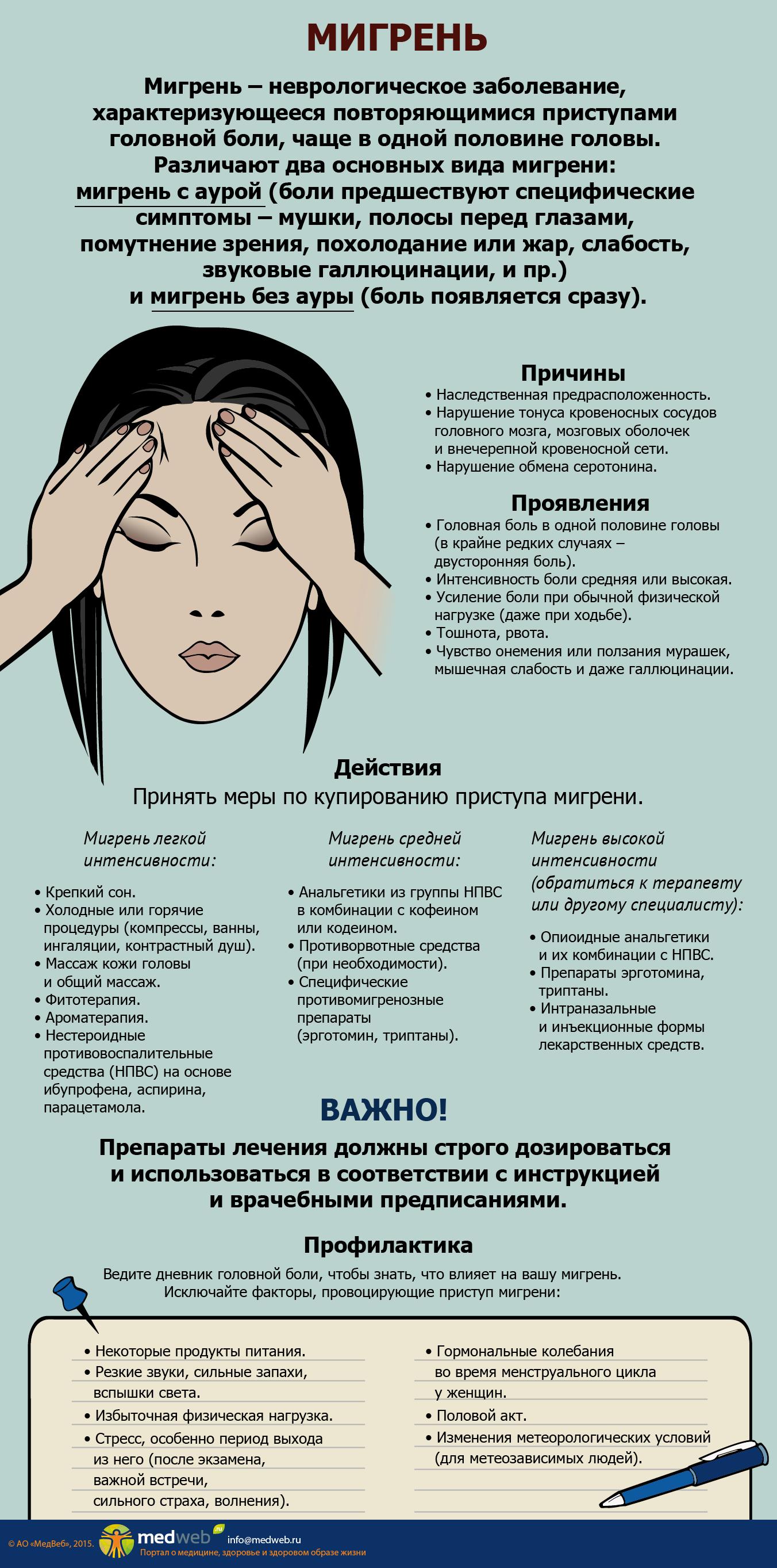 Что делать при приступе мигрени у ребенка