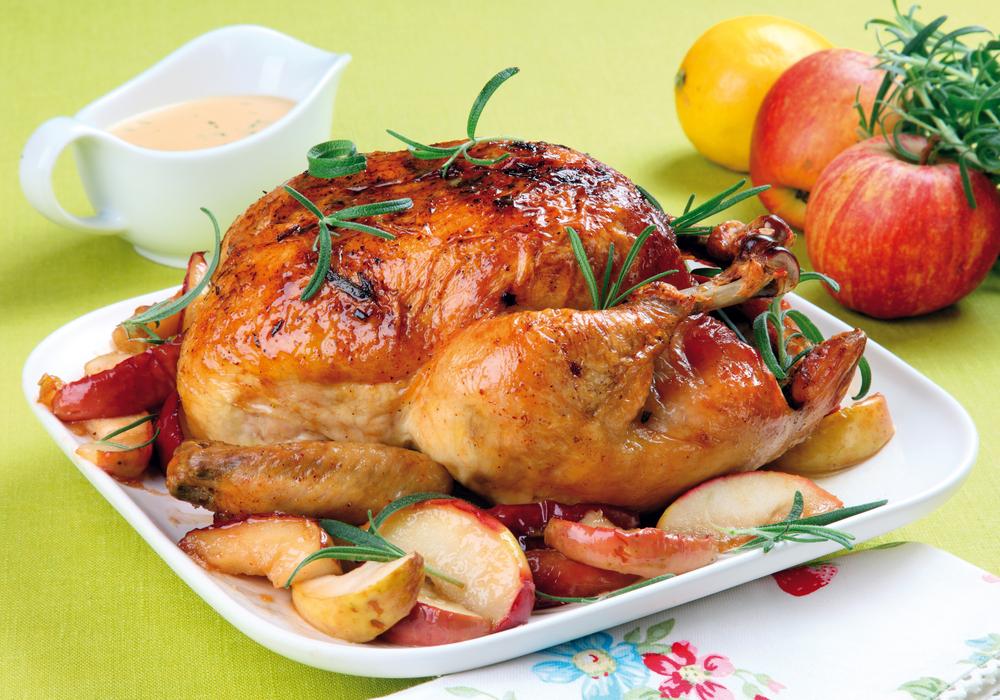 Курица запеченная в медовом соусе